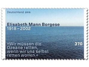 100. Geburtstag Elisabeth Mann Borgese, Briefmarke zu 3,70€, 10er-Bogen
