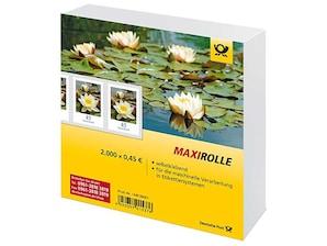 """Maxirolle """"Seerose"""", Briefmarke zu 0,45€, 2.000er-Rolle"""