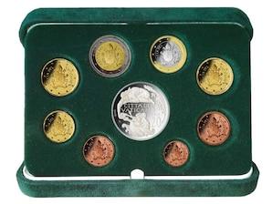Vatikan Kursmünzensatz 2018 mit 20-Euro-Silbermünze