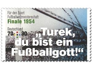 Legendäre Fußballspiele - Finale 1954,  Briefmarke zu 0,70 + 0,30 EUR, 10er-Bogen