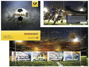 """Markenset """"Legendäre Fußballspiele"""",  0,70+0,30 EUR, 0,85+0,40 EUR, 1,45+0,55 EUR, 3er-Set"""