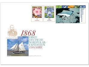 """Gedenkbriefumschlag """"150 Jahre Erste Deutsche Nordpolar-Expedition"""""""