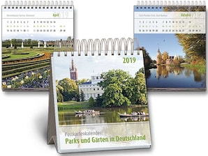 """Postkarten-Kalender """"Parks und Gärten in Deutschland"""""""