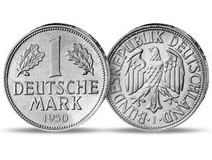 Die erste 1-DM-Münze von 1950