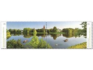 Gartenreich Dessau-Wörlitz, Briefmarke zu 0,45 EUR, 10er-Bogen