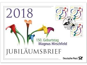 """Jubiläumsbrief """"150. Geburtstag Magnus Hirschfeld"""""""