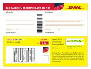 Bild DHL PÄCKCHENMARKE Deutschland bis 2 kg - Versandschein