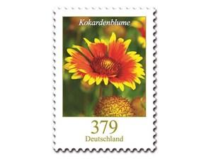 Kokardenblume, Briefmarke zu 3,79 EUR, 10er-Bogen