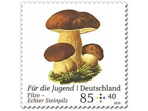 Pilze - Echter Steinpilz, Briefmarke zu 0,85 + 0,40 EUR, 10er-Bogen