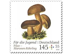 Pilze - Maronen-Röhrling, Briefmarke zu 1,45 + 0,55 EUR, 10er-Bogen