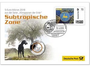 """Numisbrief 5-Euro """"Subtropische Zone"""""""