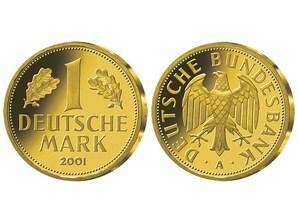 Die einzige 1-DM-Goldmünze