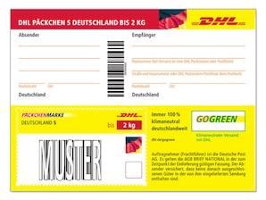 DHL Paeckchenmarke S Deutschland 2kg