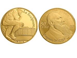 "50 Euro Goldmünze 2017 ""Auguste Rodin"""