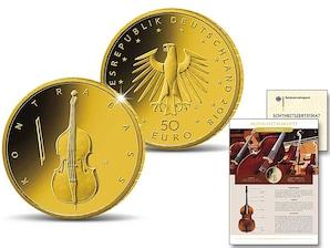 "50 Euro Goldmünze Musikinstrumente, ""Kontrabass"""