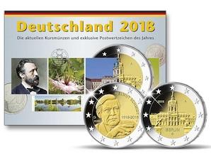 Kursmünzen der Prägestätte Karlsruhe (G) 2018
