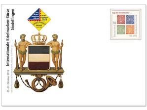 """Messebriefumschlag: """"36. Internationale Briefmarken-Börse, Sindelfingen"""" 2018"""