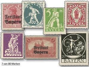 """Altdeutschland-Bayern, Komplett-Set """"Alle Briefmarken Bayerns ab Republik"""""""