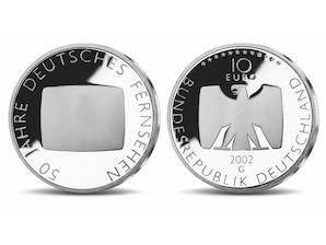 10-Euro Münze 50 Jahre deutsches Fernsehen