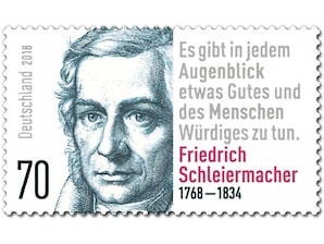 250. Geb. Friedrich Schleiermacher, Briefmarke zu 0,70 EUR, 10er-Bogen