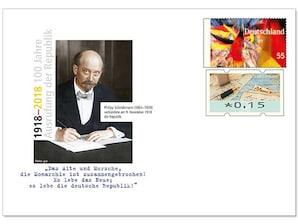 """Gedenkbriefumschlag """"100 Jahre Ausrufung Republik"""""""