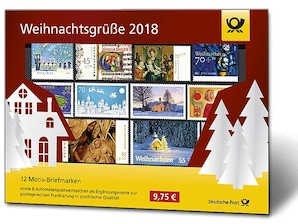"""Steckkarte """"Weihnachtsgrüße 2018"""""""