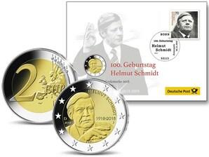 "Numisbrief: ""100. Geburtstag Helmut Schmidt"""