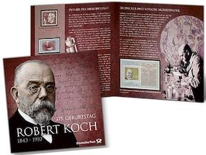 """Schmuckblatt """"175. Geburtstag Robert Koch"""""""