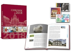 """Buch """"Chronik 2018 - Briefmarken und Ereignisse"""""""