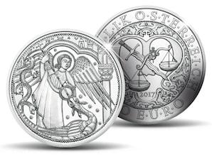10 Euro Silbermünze, Michael - Der Schutzengel