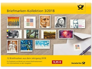 "Steckkarte: ""Briefmarken-Kollektion 3/2018"""