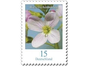 Wiesenschaumkraut, Briefmarke zu 0,15 EUR, 10er-Bogen