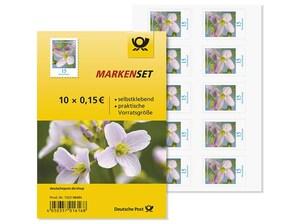 """Markenset """"Wiesenschaumkraut"""", 0,15 EUR, 10er-Set"""