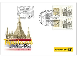 "Messebeleg ""World Stamp Exhibition, Thailand"" 2018"