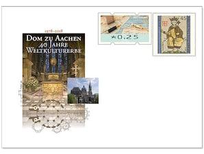 """Gedenkbriefumschlag """"Dom zu Aachen - 40 Jahre Weltkulturerbe"""""""