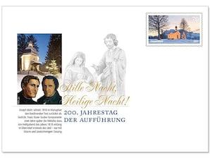 """Gedenkbriefumschlag """"Stille Nacht, Heilige Nacht"""", 200. Jahrestag der Aufführung"""