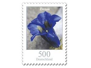 """Bild Briefmarke """"Dauerserie Blumen - Enzian"""", 5,00 EUR"""