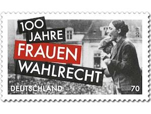 100 Jahre Frauenwahlrecht, Briefmarke zu 0,70 EUR, 10er-Bogen