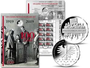 """Numisblatt: """"100 Jahre Frauenwahlrecht"""""""