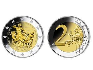 """2 EURO-Gedenkmünze Vatikan: """"Europäisches Jahr des Kulturerbes"""""""