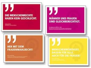 """Zitate"" 4er-Postkarten-Set Frauenwahlrecht"