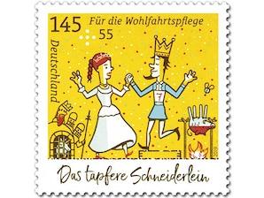 Das tapfere Schneiderlein, Briefmarke zu 1,45 + 0,55 EUR, 10er-Bogen