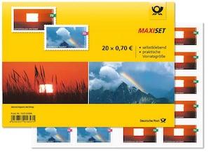"""Maxiset """"Luftspiegelung"""", """"Regenbogen"""", Briefmarke zu 0,70 EUR, 20er-Set"""