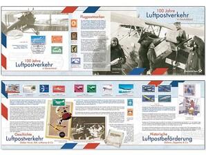 """Schmuckblatt """"100 Jahre Luftpost"""""""