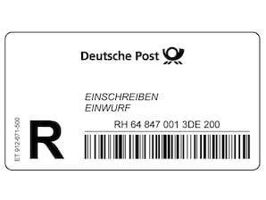 Einschreiben-Einwurf-Label Rolle à 1000 Stück
