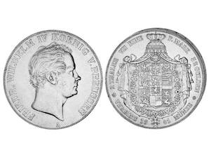Silber Doppeltaler Preußen 1841 - 1842