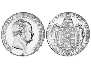 Silber Doppeltaler Preußen 1853 - 1856