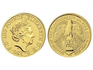 Falke von Plantagenets 1 Oz Gold GB