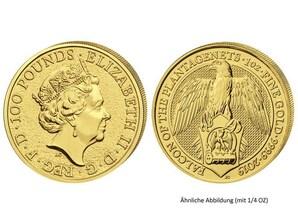 Falke von Plantagenets 1/4 Oz Gold GB