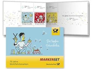 """Markenset """"Das tapfere Schneiderlein"""", 0,70+0,30 Euro, 0,85+0,40 Euro, 1,45+0,55 Euro, 3er-Set"""